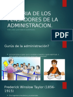 Historia de Los Pensadores de La Administracion