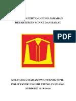 LPJ DEPARTEMEN (pelatihan)