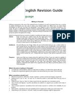 IGCSE English Revision Guide