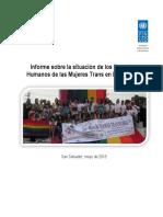informa sobre la situación de los derecho de las mujeres en El Salvador