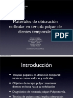 Materiales de obturación radicular en terapia pulpar en denticion temporal