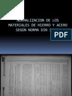 Normalizacion del Acero Segun DIN 17006