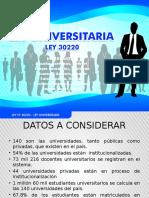 LEY N° 30220 - LEY UNIVERSITARIA