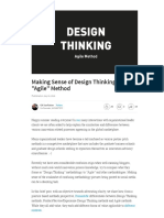 "Making Sense of Design Thinking & ""Agile"" Method 