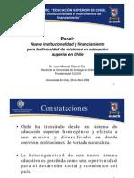 SEM Educación Superior en Chile, nueva institucionalidad e instrumentos de financiamiento Panel JMZolezzi