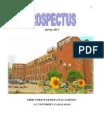 Prospectus Spring 2015