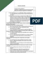 Dcf Checklist
