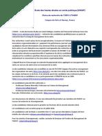 Chaire USPC Management