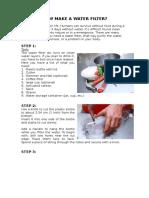 Steps of Walter Filter