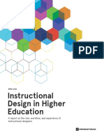 Instructional Design in Higher Education Report