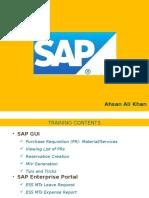 SAP MTs Training