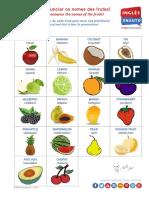 Inglês Enxuto - Poster das Frutas em Inglês (v4.0)