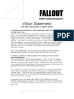 Fallout 1 Vision Statement