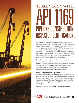 Api 1169 Pipeline Inspector Exam Fact Sheet Pipeline Transport