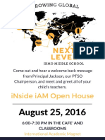 Open House Flyer 8/25/16
