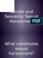 (Final) Gender and Sexuality - Sexual Harassment