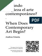 ¿Cuándo empieza el arte contemporáneo?