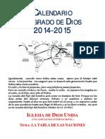 Calendario Sagrado 2014-2015