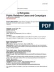 Public Relations Cases and Campaigns - Syllabus COMM438 COMM 538