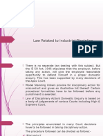 Law Related to Industrial Discipline