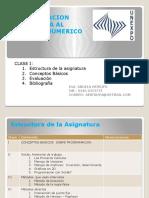 Introducción a la Programación del Cálculo Numérico
