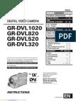 JVC GR-DVL320/GR-DVL520/GR-DVL820/GR-DVL1020 Instructions Manual