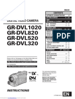 JVC GR-DVL320/GR-DVL520/GR-DVL820/GR-DVL1020 Instructions Manual