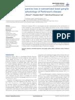 Involvement of Dopamine Loss in Extrastriatal Basal Ganglia