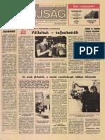 Tolna Megyei Népújság címlapja, 1985/02/13