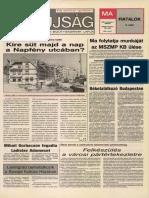 Tolna Megyei Népújság címlapja, 1988/11/02