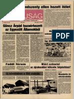 Tolna Megyei Népújság címlapja, 1990/05/21