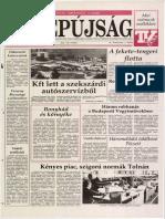 Tolnai Népújság címlapja, 1992/01/10