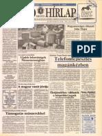 Nógrád Megyei Hírlap címlapja, 1992/05/29