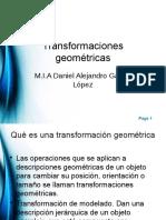 3d - Transformaciones Geométricas