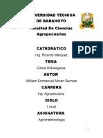 CICLOS HIDROLOGICOS (agrometereologia)