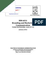 Syllabus Branding and Marketing Communication MM6031