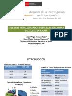 Efecto de Metales Pesados Sobre La Macrofauna Del Suelo en Cacao