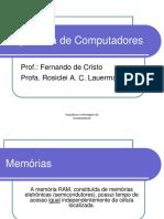Slides - Memórias RAM Tecnologias