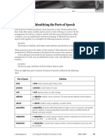 Identifying Parts of Speech