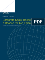 Corporate Social Responsibility - A Beacon for Top Talent