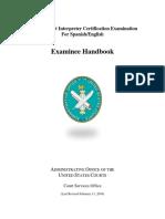 Federal Court Interpreter Certification Examinee Handbook 0