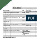 Matris proceso de analisis