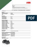 1SVR405651R3400 Cr m4sfb Standard Socket Fork Type for 2c o or 4c o Cr m Relay