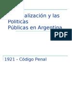 penalización en argentina