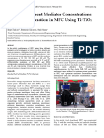 Effect of Different Mediator Concentrations on Power Generation in MFC Using Ti-TiO2 Electrode