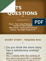 Hots Questions - Literature Form 4 2016