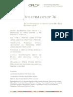 Boletim OPLOP 36