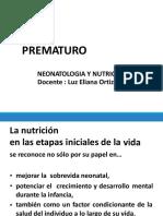 Bases de La Nutricion en Prematuro