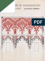 Teoria de La RestaTeoría de la restauracion - Cesare Brandi