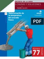 Determinación de la temperatura del concreto fresco - Publicación del IMCYC - Enero 2014